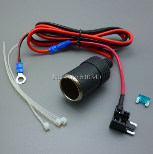 1M 1.5mm2 Car Cigarette Cigar Lighter DC12V Extension Micro Fuse Tap Holder Lead(China (Mainland))