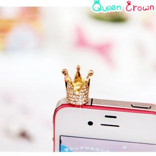 79073 for apple mobile phone dust plug full rhinestone plug earphones