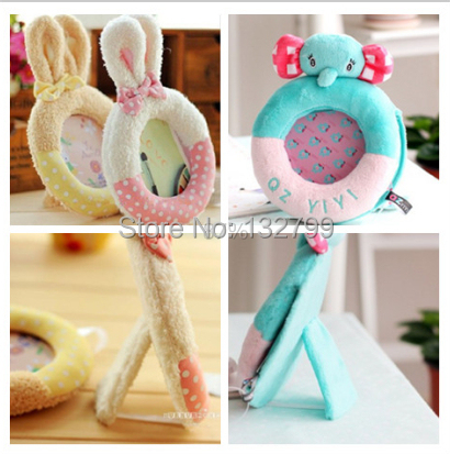 cute baby photo frame cartoon wedding favor baby shower plush picture