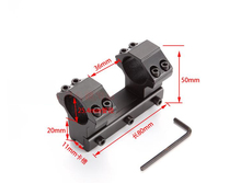 1/pcs High Quality  Dual 25.4mm Ring 11mm Dovetail Rail Rifle Scope Mount Outdoor Hunting Ring 100mm  Metal Tactical Hunting