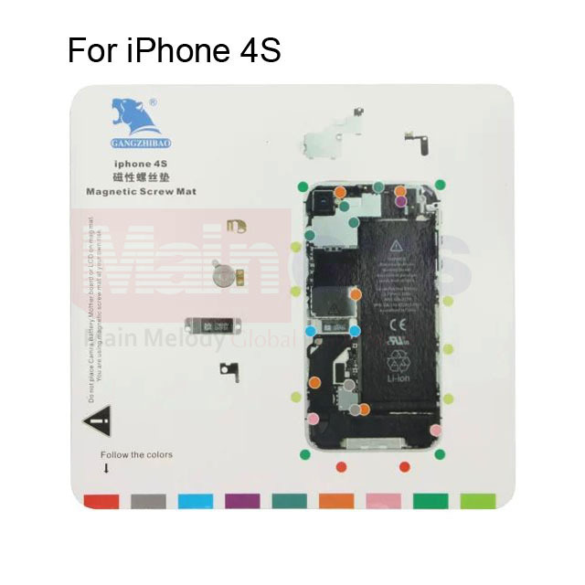 For iPhone 4S Magnetic Screw Chart Mat Magnetic lcd screen repair tool, Size:20cm x 19cm(China (Mainland))
