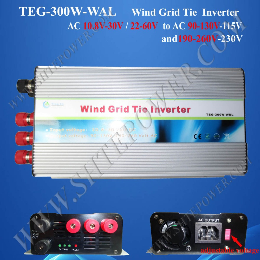 AC 12V 220V pure sine grid tie inverter wind 300w with switch(China (Mainland))