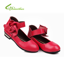 Girls Princess Thin Shoes Spring Summer Flower Leather Shoes for Children Kids Girl Spring Summer Free Drop Shipping New Fashion(China (Mainland))