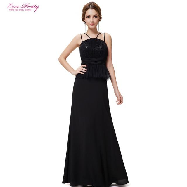 Сексуальное элегантный бретельках с блестками вечерние платья HE08259BK
