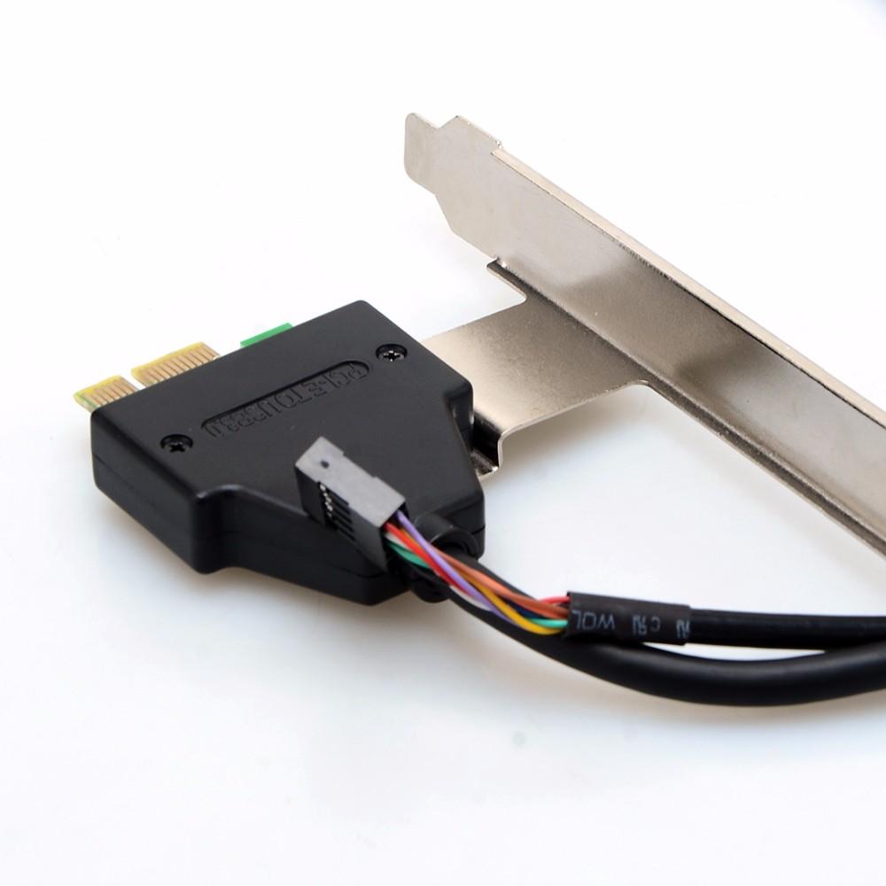ถูก 3.5ในภายในPCI-E PCI E XPRESS USB 3.0 HUB C Ard R Eader SD SDHC MMS XD M2 CFการ์ดหน่วยความจำอ่านและอะแดปเตอร์VHE56 T79