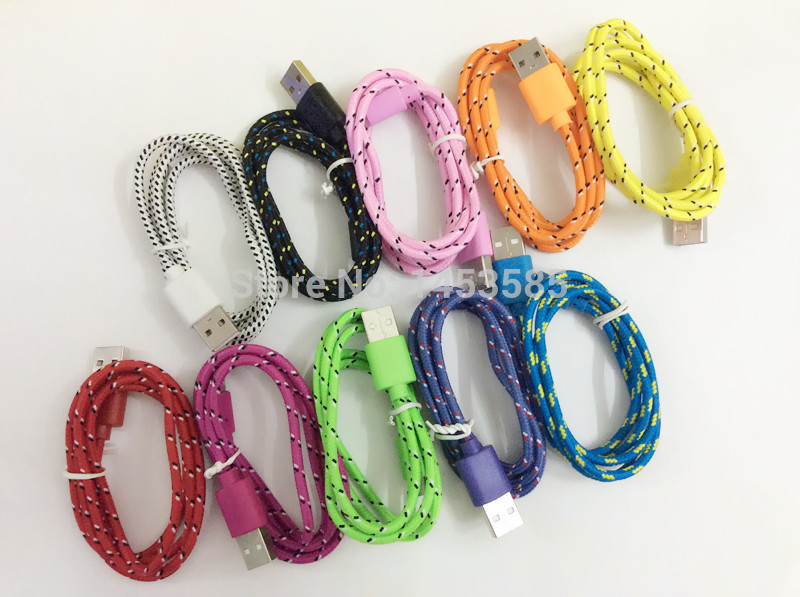 100pcs/lot wholesale High quality 1M/3FT Nylon braided Cable for Lightning to USB Cable, for iPhone 6 Cable, for iPhone 5S Cable(China (Mainland))