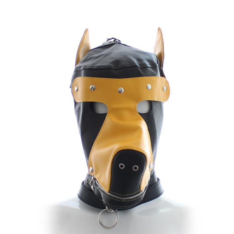 PVC Dog slave head Hood hoods Head bondage fully enclosed fun headgear Mask Fetish adult game Hoods & Muzzles Sex Toys(China (Mainland))