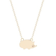 Buy QIMING Gold Silver Hedgehog Pendant Necklace Statement Necklace Women Statement Necklace 2017 za Collares for $15.99 in AliExpress store