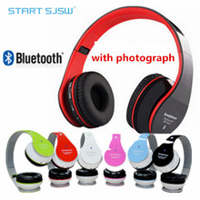 Quick Send Neo Wireless Bluetooth Headset Stereo Headphones With Photograph Foldable FM AUX Micphone For Iphone Samsung HTC