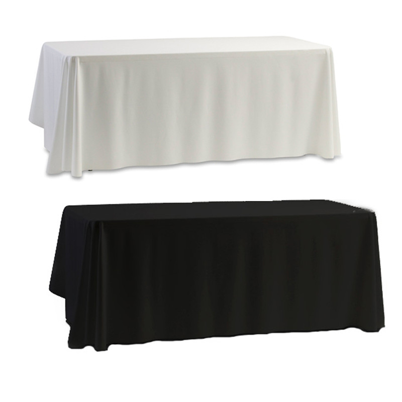 Hotsale christmas tablecloth Nappe Table Cover table cloth White & Black for Banquet Wedding Party Decor 145x145cm free shipping(China (Mainland))