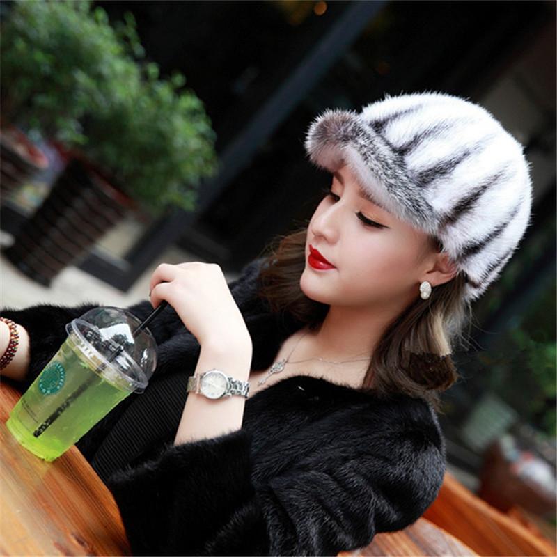 women clothing New Genuine Winter 2015 Mink Fur Hat cap in Fur Headdress Warm Fashion Cap Hats Headgear(China (Mainland))