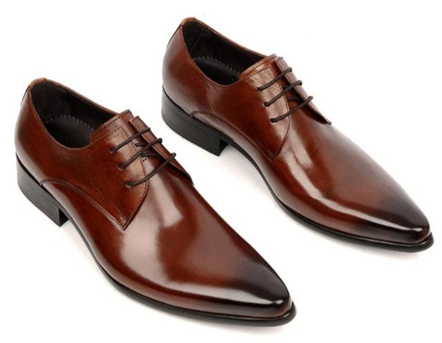 Большой размер EUR 45 oxfords обувь Черный/коричневый загар мужские платья обувь ...