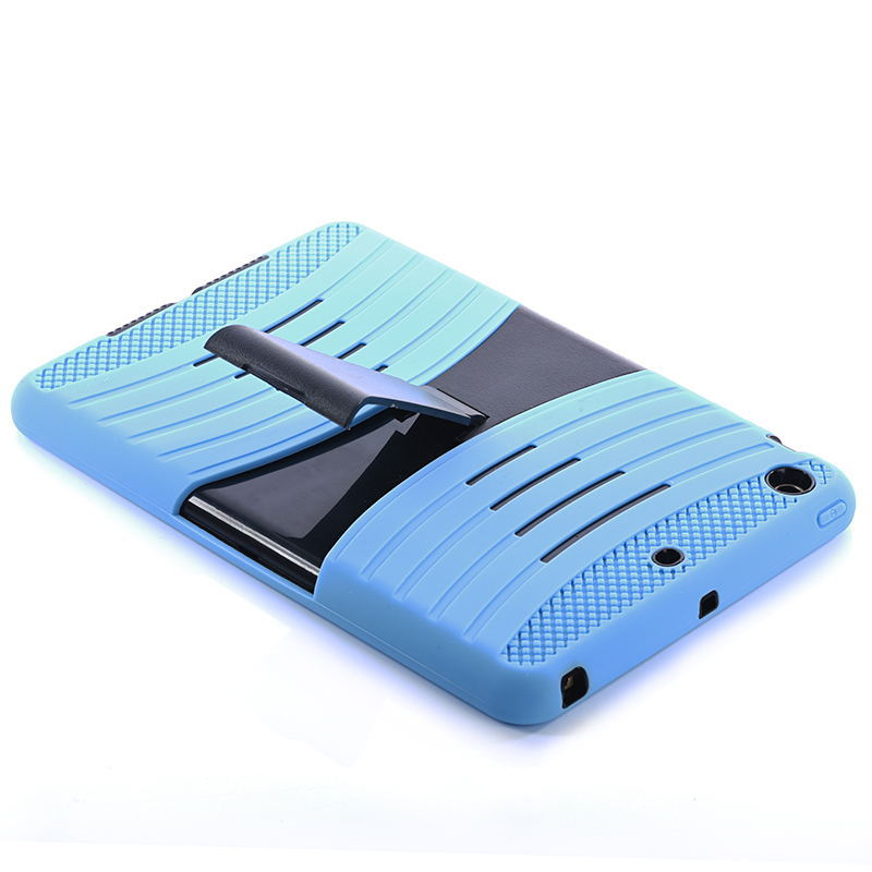Hybrid Robot Tablet PC Case Silicone+PC Shockproof Back Hard Cover Case with Stander Holder For iPad Mini 1 2 3 Retina Case(China (Mainland))