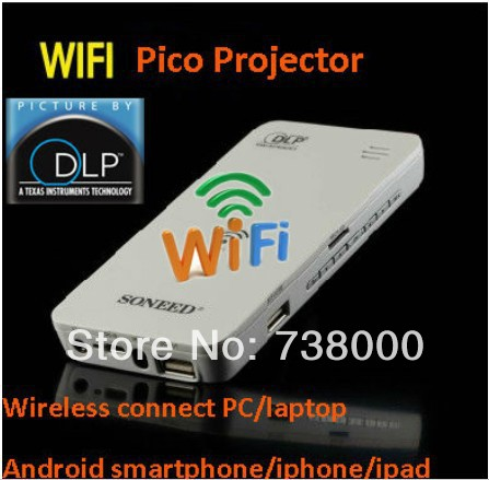 Fast Via DHL, mini wireless wifi projector dlp led iPhone Android Phone Laptop PCsmartphone,pc - A Best Store store