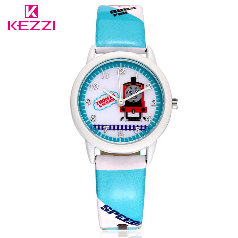 KEZZI Brand New Arrival Youth&Fashion Children's Cartoon Thomas and friend Popular Leather Student Watches(China (Mainland))