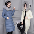 Women s Down Jackets 2016 New Fashion Style Hood With a Big Fur White Duck Down