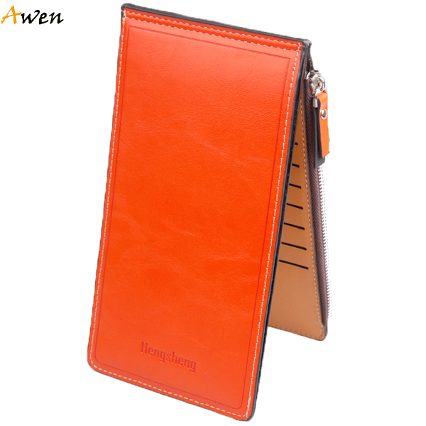Awen hot sell new fashion long design waxy leather women wallets,ultrathin leather wallets for women,vintage carteira feminina(China (Mainland))