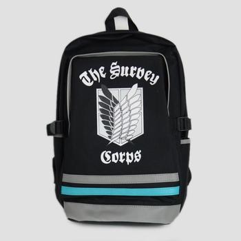2013 Anime Free Shipping Wholesale  Anime Attack on Titan cosplay BackPack KID School Bag