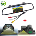 3in1 Sound Alarm Car Video Parking Sensors Assistance Rear View Camera 4 3 inch Car Rearview