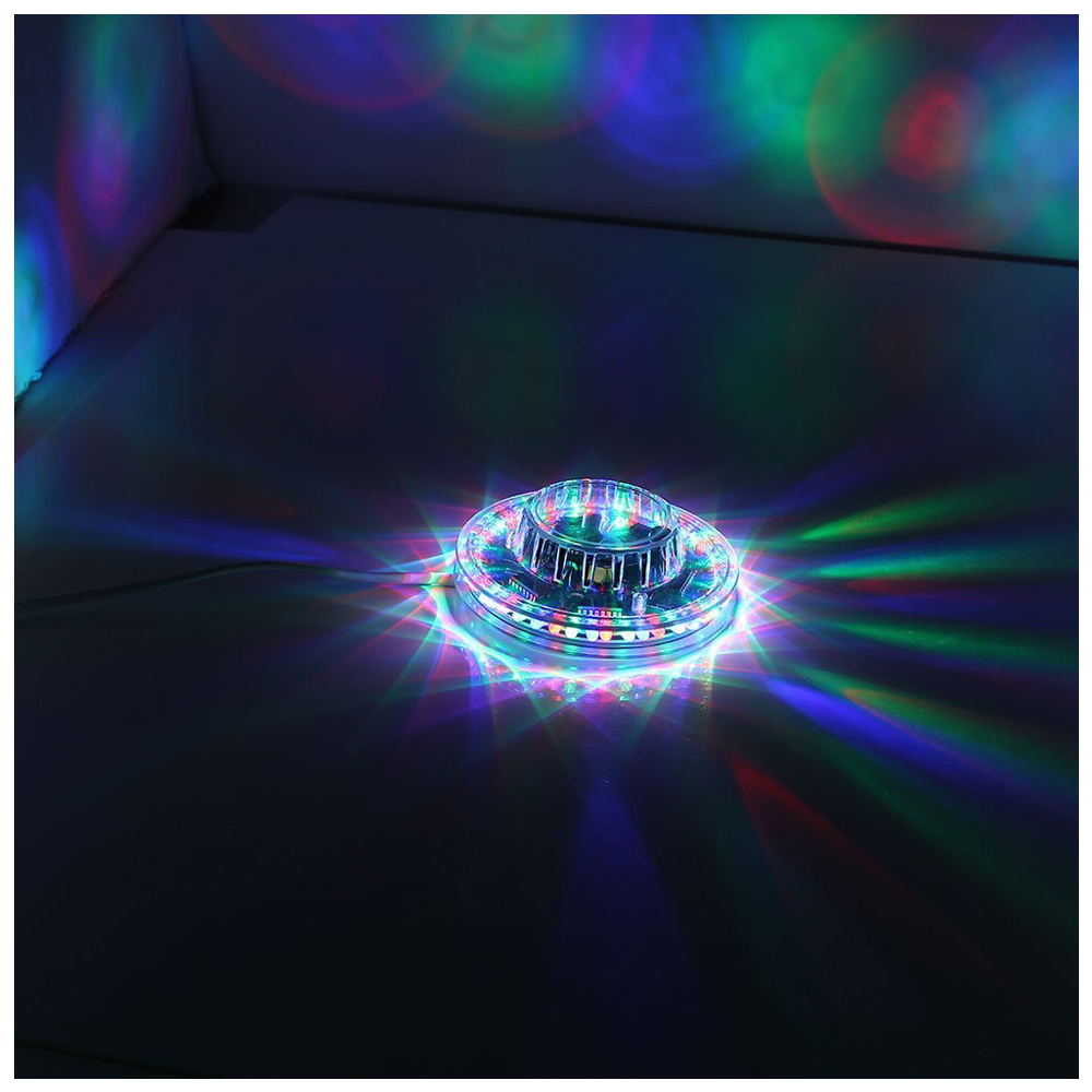 2PACKS 48LEDs 8W RGB LED Stage Effect Lights Lighting Lamp Voice-activated Disco Bar DJ Party KTV Club