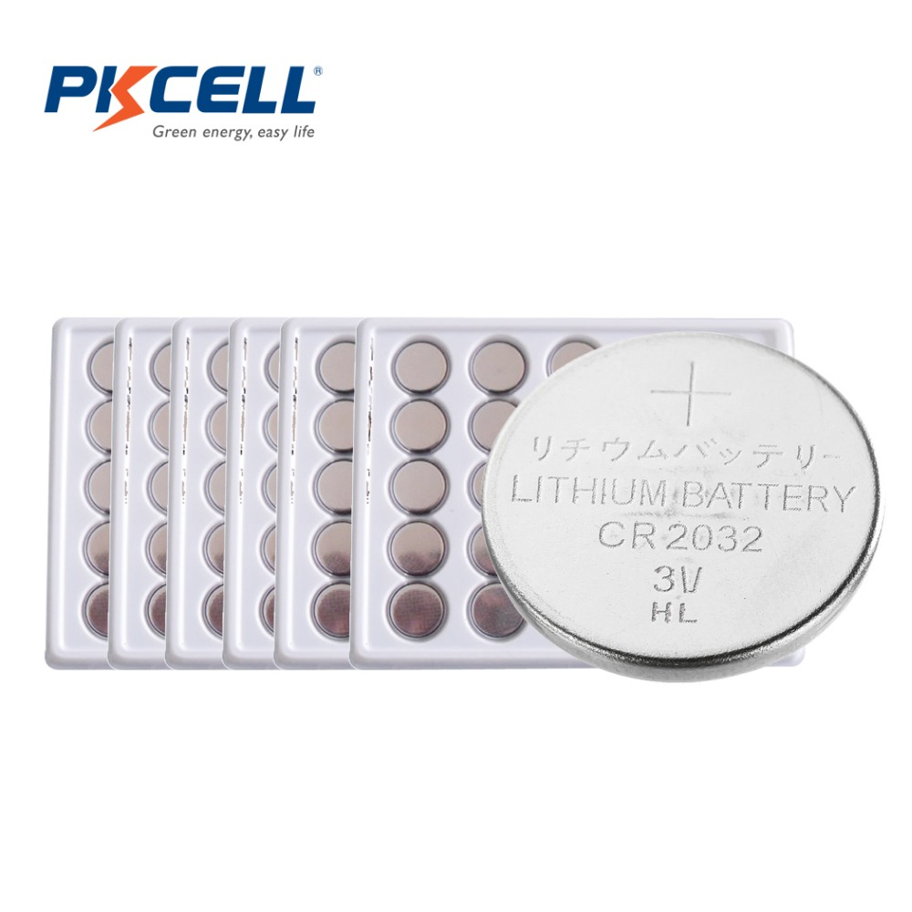 150 X PKCELL 3V Battery CR2032 Lithium Button Battery BR2032 DL2032 ECR2032 CR 2032 Button Coin Cell Batteries