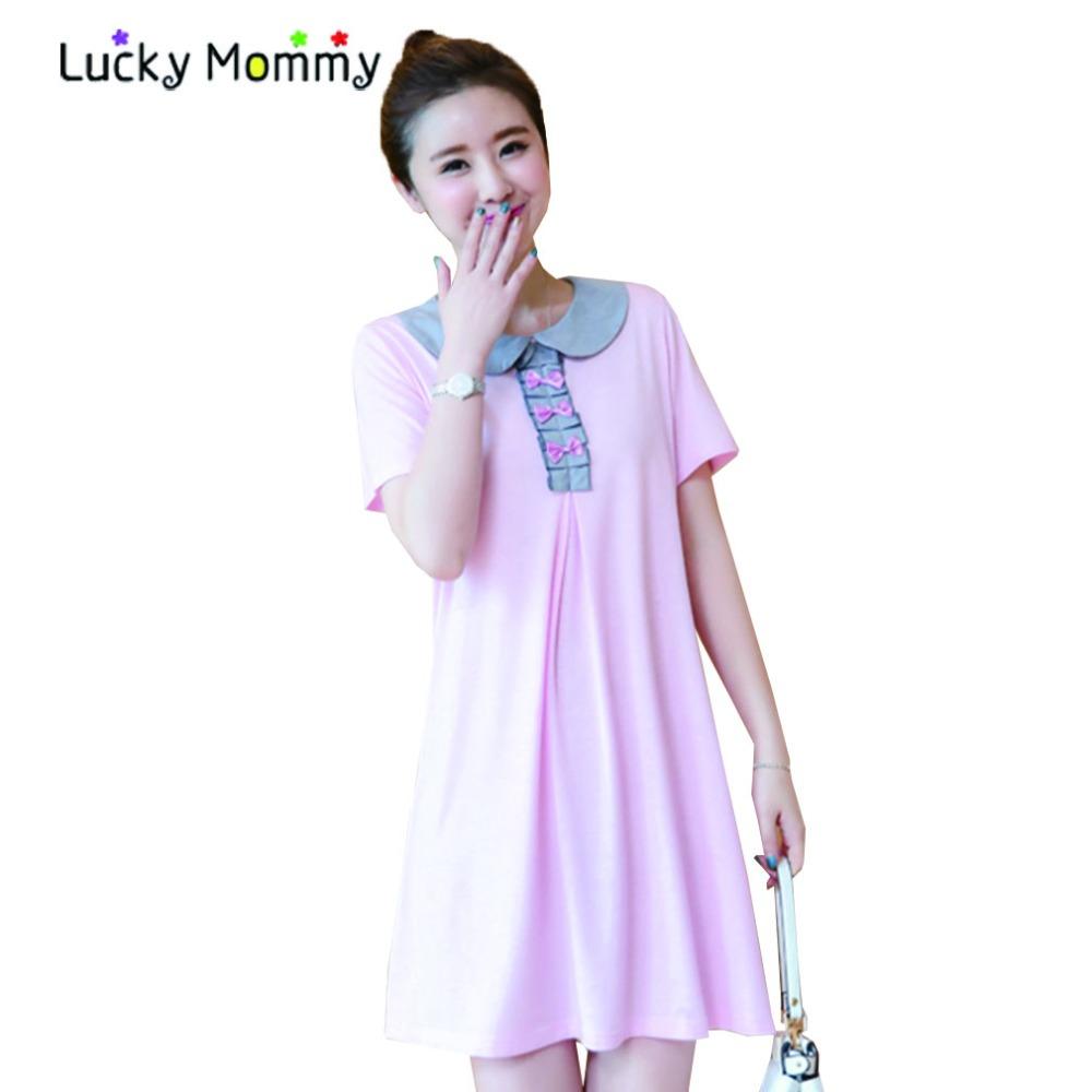 Online get cheap pink dress for pregnant aliexpress alibaba summer fashion pink maternity dresses for pregnant women clothing cute princess maternity dress plus size ombrellifo Image collections