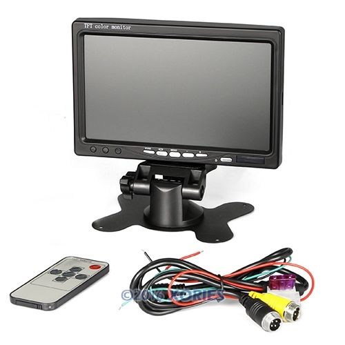 "NEW 7"" TFT Color LCD Screen Monitor For Car Park Reverse 4pin Power + Video(China (Mainland))"