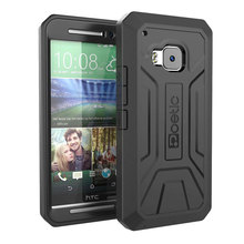 Black Armor Phone Case For HTC one m9, Defender Dual Layer Rugged Hybrid Mobile Phone Cover for HTC one m9 Case(China (Mainland))