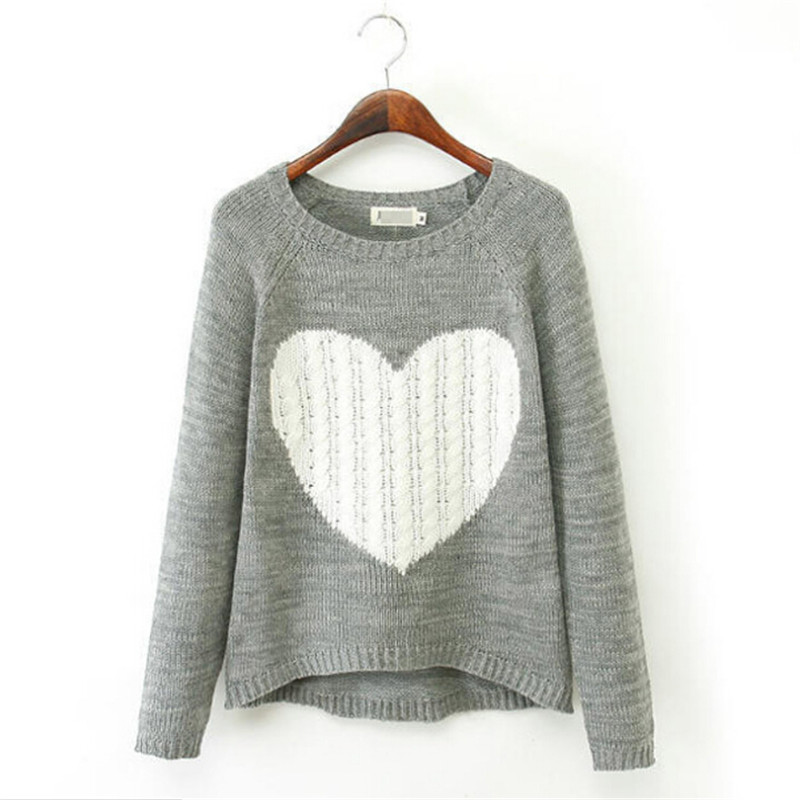 Women Sweater Blouse Casual Knitted Tunic Clothes Autumn Wool Pullover Jumper...