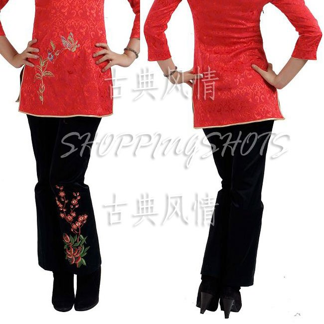 Chinese pantaloon pants trouser size 30-38 breeches clothes 101102 black in stock(China (Mainland))