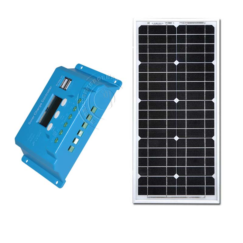 solar panel kit solar module 20w 12v mono 10a solar charge controller pwm dual usb solar power system(China (Mainland))