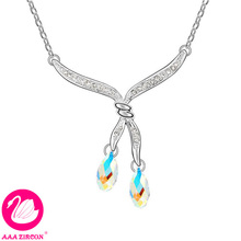 """Women's Multicolor """"Gemini"""" Crystal Wedding Necklace Made With Swarovski Elements, Come With A Necklace Box! (6398)(China (Mainland))"""