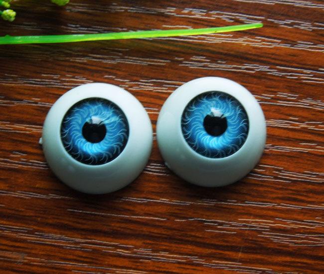 50pcs(25pairs) Half Round Plastic Doll Eyes Blue color BJD EYES, Doll Dollfie Eyes Eyeballs Wholesale 22mm(China (Mainland))