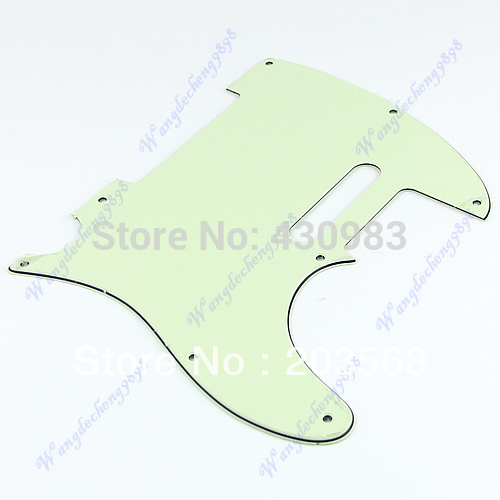 1 PC Green PVC 3 Ply Guitar Pickguard Plate For Fender Telecaster Tele Scratchplate Free Shipping(China (Mainland))