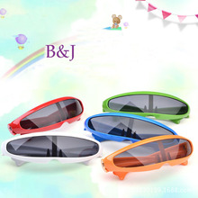 Sport Outdoors Children Sunglasses For Boys Girls Kids Black Eyewear With 6 colors And Cloth Plastic Frame Gafas Goggles