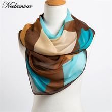 new 2016 spring and autumn chiffon women scarf geometric pattern design long soft silk shawl 160*50cm(China (Mainland))