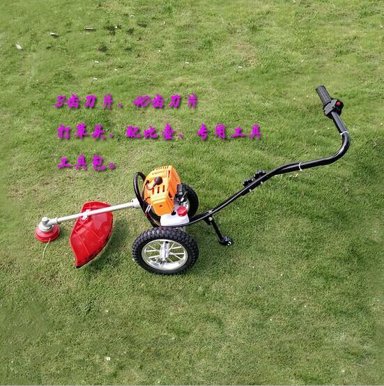gasoline petrol wheel brush grass cutter trimmer handle mower 1.9kw engine lawn mower(China (Mainland))