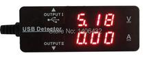Dual USB Detector de carga actual 3.2 ~ 10 V 0 ~ 3A del amperímetro del voltímetro cargador para Teable PC externo adaptador de batería