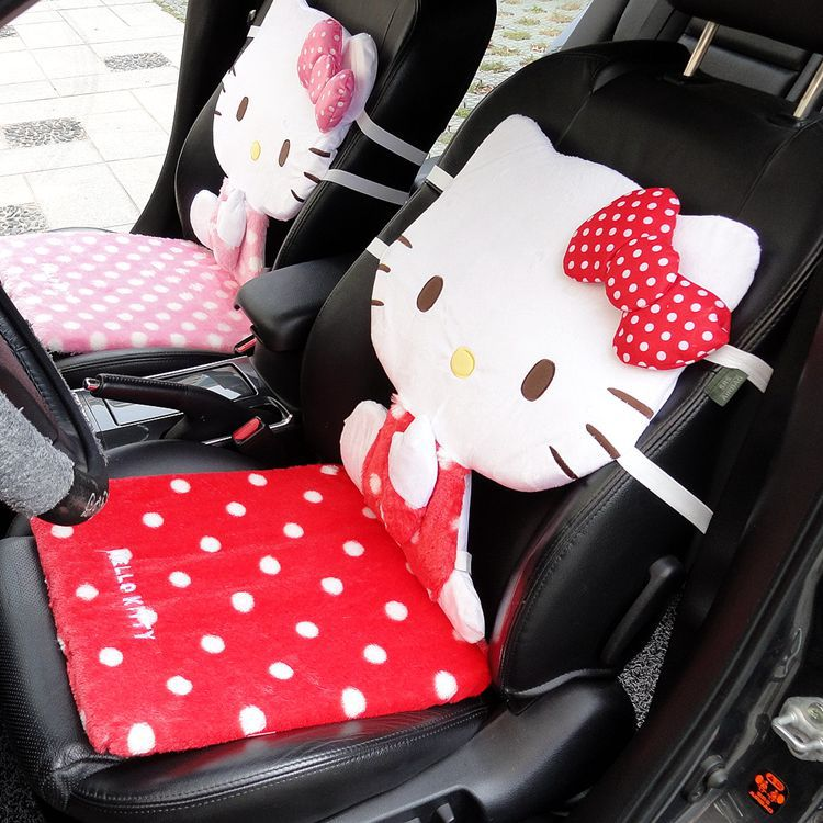 1PCS 2015 Pink Red Beautiful And Soft Hello Kitty Car Seat Covers & Supports,Office Seat Cover,Size 40*87cm(China (Mainland))
