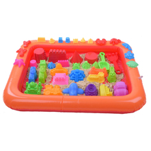Inflatable Sand Tray Plastic Mobile Table For Children Kids Indoor Playing Sand Clay Color Mud Toys Accessories Multi-function(China (Mainland))