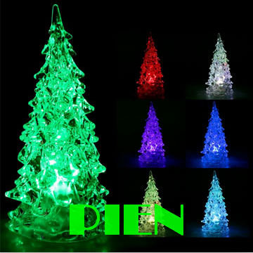 Holiday items Gift Night lamp Crystal Cristmas tree style Color changing RGB for kids novelty gift decoration by DHL 200pcs/lot<br><br>Aliexpress