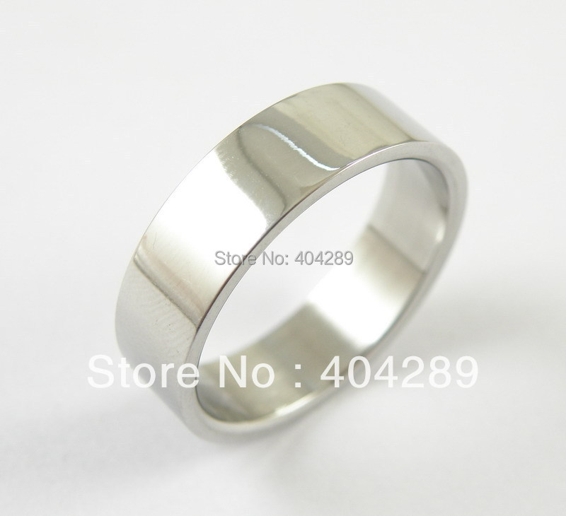 36pcs Top Quality 8MM Stainless Steel Flat Polished Rings, women & men rings,DIY Jewelry(China (Mainland))