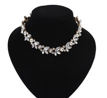 2015 Rhinestone Women Chokers Necklace New Arrival Necklaces Pendants Fashion Statement Necklace Jewelry Trends For Gift Party(China (Mainland))
