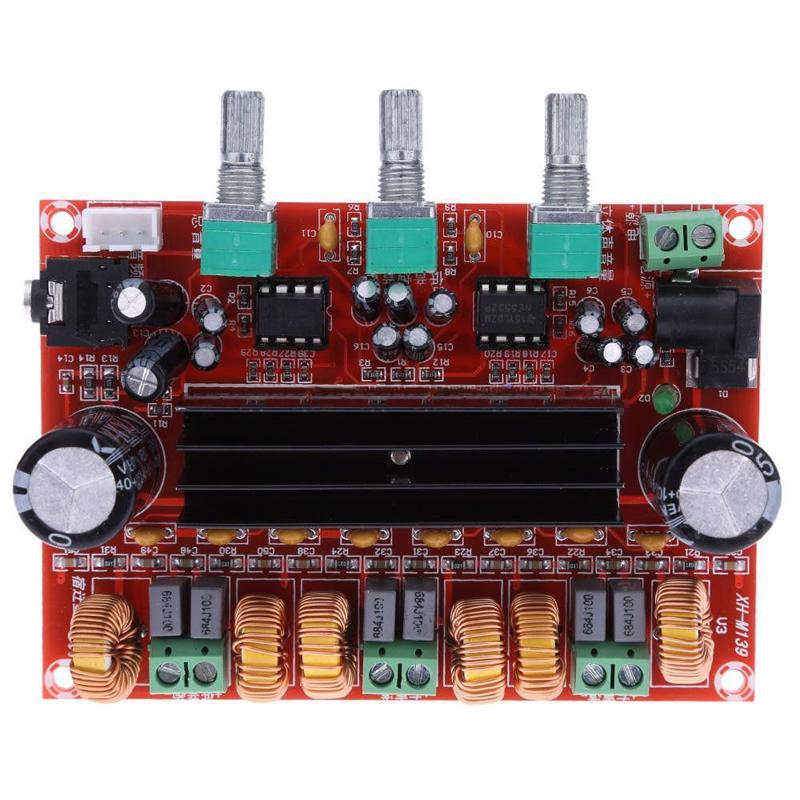 New TPA3116D2 50Wx2+100W 2.1 Channel Digital Subwoofer Amplifier Board 12V-24V Power