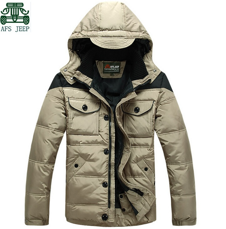 2014 Man's down&Park Coats,Afs jeep Winter Warmly Coats,Man's Brand sports Jackets,Good Quality male Outdoor Coats