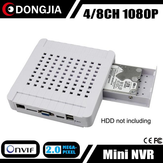 DONGJIA DJ-3004M/DJ-3008M mobile hdmi 4CH 8CH cctv dvr hd network video recorder 1080P 960P 720P p2p onvif Mini NVR(China (Mainland))