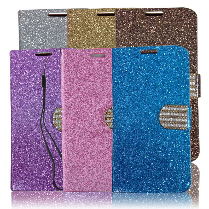 Luxury Rhinestone Magnetic Smart Flip Wallet Flip Stand PU Leather Bling Cover Case For Samsung Galaxy S5 I9600 X*USCA0101#M2(China (Mainland))