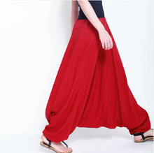 2015 fashion Cotton bloomers large crotch pants ,loose plus size S-XL sports trousers, wide leg pants,12 color causal pants(China (Mainland))
