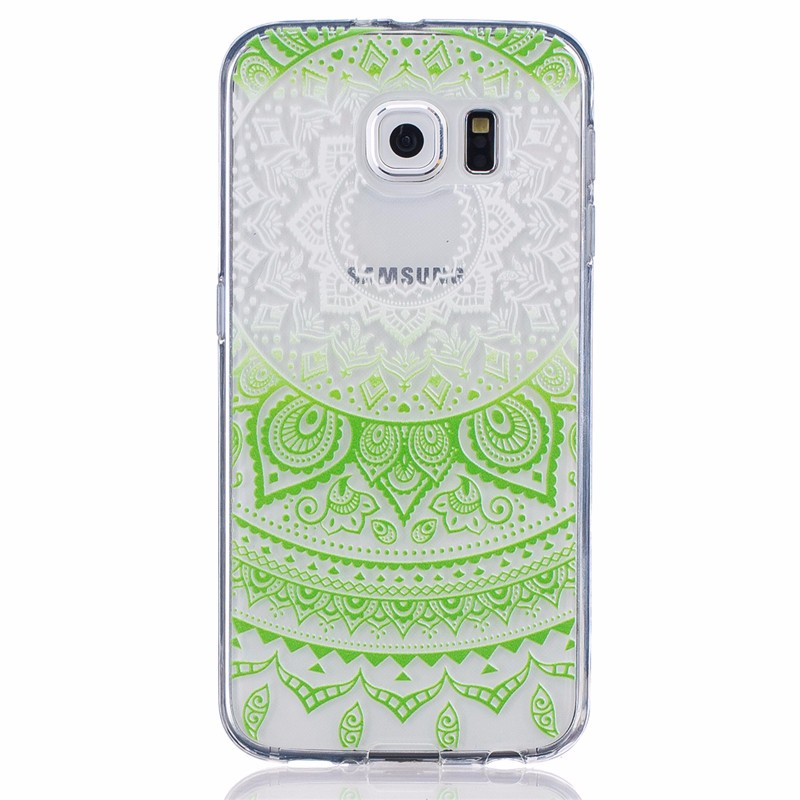 Ultra-thin Transparent Hollow Retro Vintage Flower Soft TPU Mobile Phone Case For Samsung Galaxy S6 G9200 Back Cover Bags