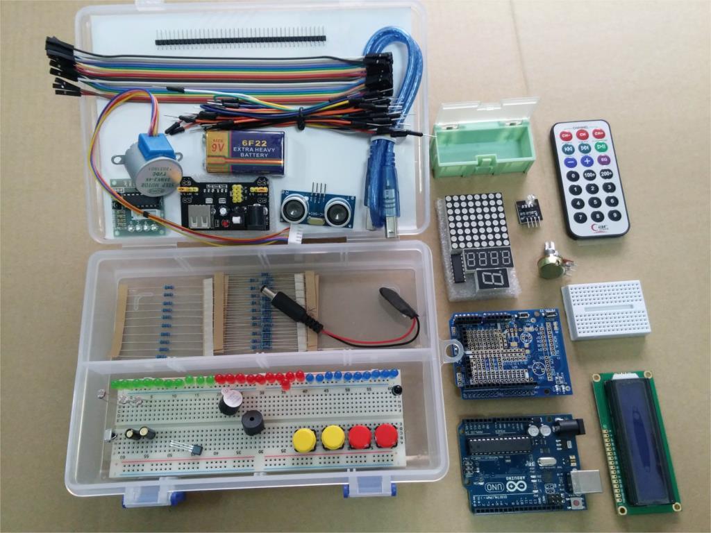 Uno r starter kit lcd motor servo breadboard led